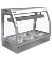 Cossiga 1200mm Wide Self Serve Curved Counter bain Marie