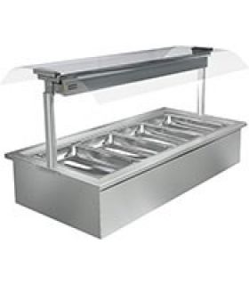 Cossiga Linear 3 Pan Drop In Bain Marie