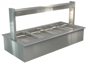 Cossiga 4 bay self serve hot Bainmarie