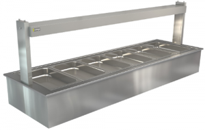 Cossiga 6 bay self serve hot Bainmarie