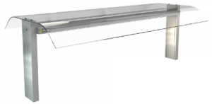 Cossiga Curved glass option to suit 3 bay Linear series