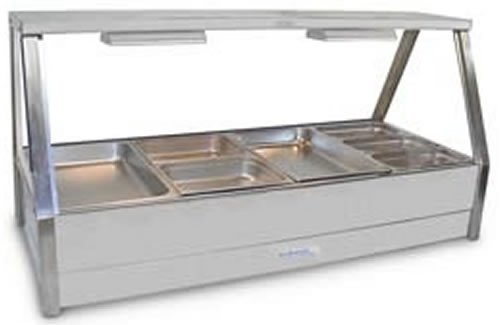 Roband Straight Glass 6 x 2 bay Hot Food Bar