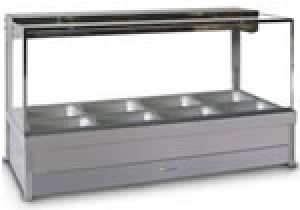 Roband Hot Food Bar Square Glass 2x2 Bay