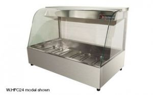 Woodson Curved Glass 2 x 2 Bay Hot Food Bar With Rear Doors