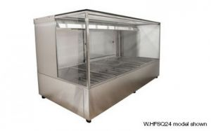 Woodson Square Glass 2 x 2 Bay Hot Food Display