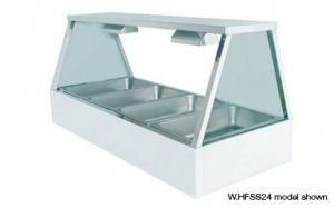 Woodson Square Glass 2 x 3 Bay Self Serve Hot Food Display