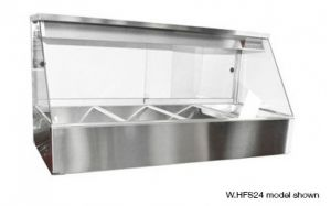 Woodson Straight Glass 2 x 2 Bay Hot Food Bar With Rear Doors