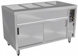 Culinaire Island Bain Marie With Hot Cupboard 4 Module