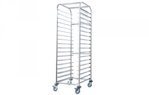 Simply Stainless Bakery Trolley fits 18 x 400mm x 600mm Trays