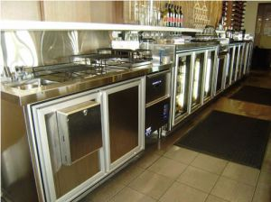 Commercial Bar behind With custom made Back Bar Fridges 3