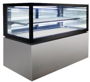 Anvil Aire 900mm square glass 2 level display Fridge (1)