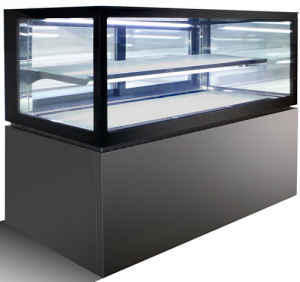 Anvil Aire 1200mm square glass 2 level display Fridge