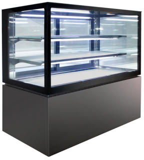 Anvil Aire 1200mm square glass 3 level display Fridge