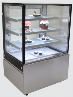 Bromic 900mm Wide 4 Tier Square Glass Cake Display