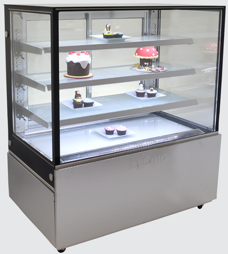 Bromic 1200mm Wide 4 Tier Square Glass Cake Display