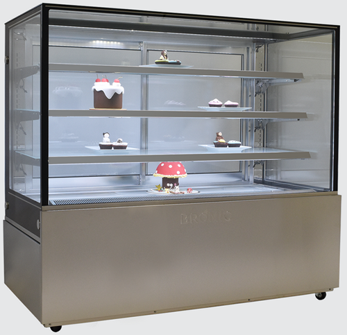 Bromic 1500mm Wide 4 Tier Square Glass Cake Display