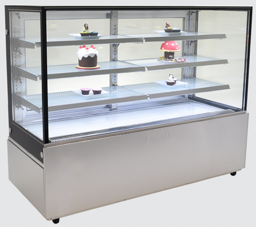 Bromic 1800mm Wide 4 Tier Square Glass Cake Display