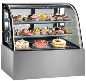 FED Thermaster 1200mm Wide 3 Tier Curved Glass Display