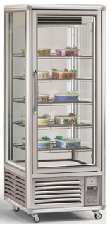 Tecfrigo Snelle 505 QBTV Vertical Dual temp Glass Fridge/Freezer Display