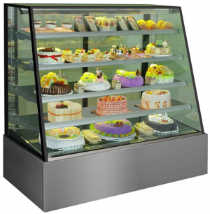 Venezia 1200mm Wide 5 Level Straight sloping Glass Display