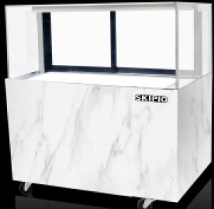 Skipio Bakery Display Case With Drinks Storage SB1200-NS Marble