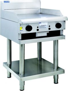 LUUS 600mm wide GAS Griddle on Stand