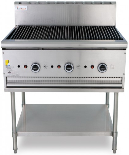 Trueheat 900mm wide gas Barbeque on Stand