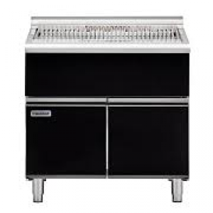 Waldorf Bold Series Solid Fuel Chargrill on Cabinet Base With doors 1200mm Wide