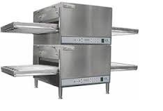 Lincoln 2504 Impinger Electric Full Belt double deck Countertop Pizza Conveyor Oven