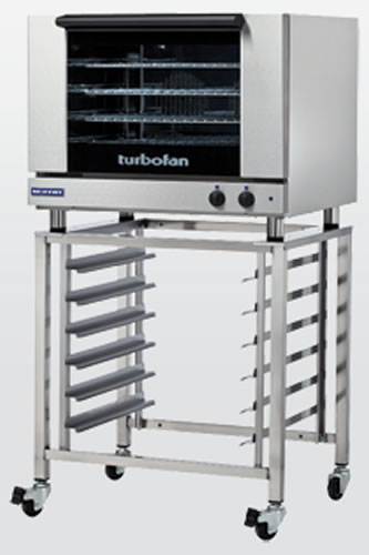 Turbofan electric 4 Full size Tray manual Control Convection Oven on Stand