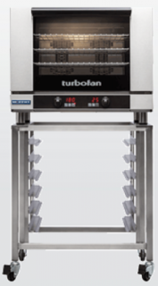 Turbofan electric 4 Full size Tray Touch Screen Control Convection Oven on stand
