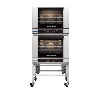 Turbofan electric 4 Full size Tray Touch Screen Control Convection Oven Double Stack