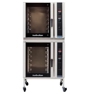 Turbofan electric 6 x 1/1 GN Digital Screen Control Convection Oven Castor Base