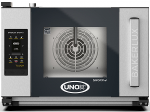 UNOX Bakerlux SHOP Pro Touch Convection Oven With Humidity 3 Tray 460 x 330 Right Opening