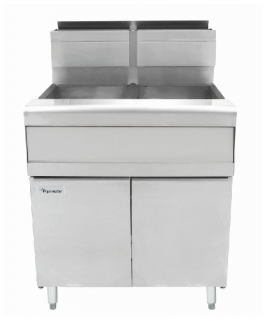 Frymaster twin pan gas Deep Fryer 2 x 20lt capacity MJ240