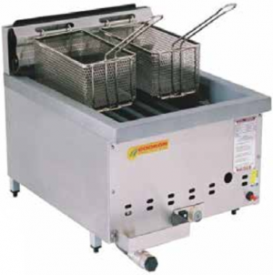 Cookon Single Tank Gas Fryer with 2 Baskets Bench Top Model