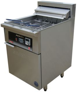 Goldstein Single pan 3 basket electric Fryer 45 Litre Rapid recovery line up model
