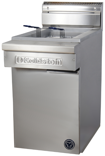 Goldstein Single pan gas Fryer 32 Litre Fish Fryer Flat Bottom