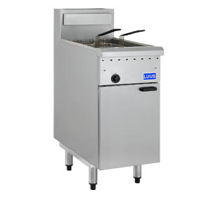 LUUS SINGLE PAN TWIN BASKET GAS FRYER