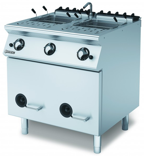 Mareno gas Pasta Cooker twin Pan 2 x 28Lt