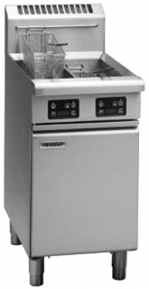 Waldorf Twin pan gas Fryer 13lt capacity per pan with electric controls