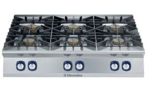 Electrolux Professional 900XP 6 x gas burner cooktop