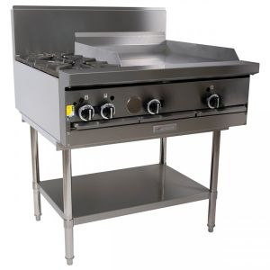 Garland 2 Open Burner & Griddle Cooktop - On Stand