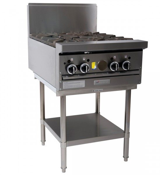 Garland 4 Open Burner Cooktop - on Stand