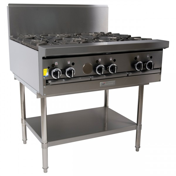 Garland 6 Open Burner Cooktop  - On Stand