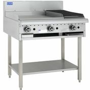 LUUS 600MM WIDE GRILL & 300MM WIDE BBQ WITH SHELF