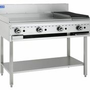 LUUS 900MM WIDE GRILL & 300MM WIDE BBQ WITH SHELF