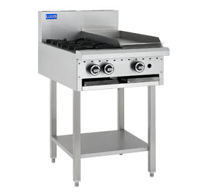 LUUS 2 OPEN BURNER COOKTOP 300 GRILL WITH SHELF