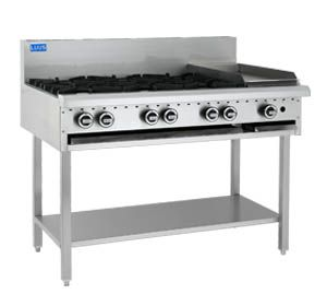 LUUS 4 OPEN BURNER COOKTOP 300 GRILL WITH SHELF