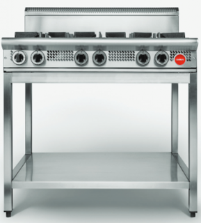 Cookon Commercial Heavy Duty gas 6 burner Cooktop on Stand
